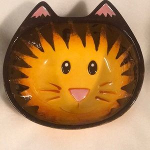 🐱Ceramic Kitty Cat Catch-All or Food Bowl EUC 🐱